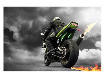 Tablou cu motociclist pe motocicletă (K011383K12080)