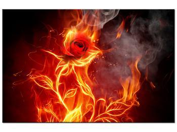 Tablou cu trandafir în foc (K011399K12080)