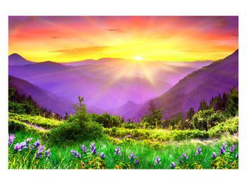 Obraz horské krajiny s východem slunce (K011873K12080)