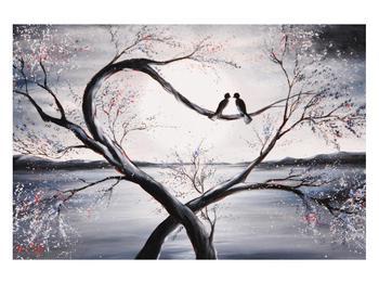 Tablou cu păsări îndrăgostite (K012516K12080)