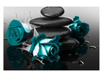 Tablou cu trandafiri albastre (K012553K12080)