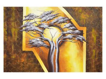 Orientální obraz stromu a slunce (K014067K12080)