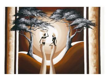Orientální obraz dvou žen a stromu  (K014682K12080)