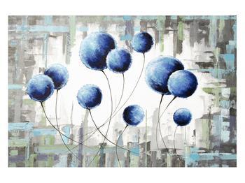 Abstraktní obraz - modré balónky (K014707K12080)