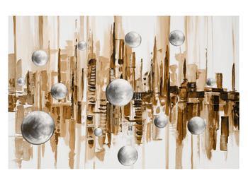 Abstraktní obraz - město (K014743K12080)