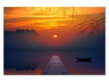 Obraz mostu pri západe slnka (V020012V12080)