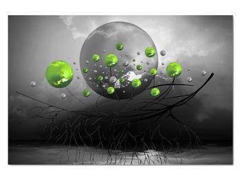 Obraz zelených abstraktných gulí (V020103V12080)