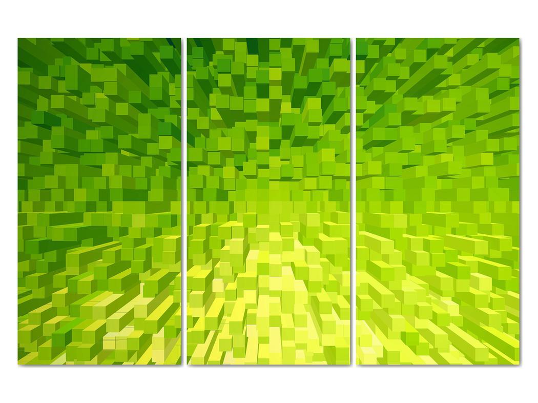 Obraz žlutozelených kostiček (V020057V120803PCS)
