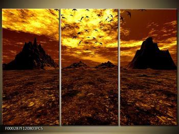 Obraz vyprahlého údolí (F000287F120803PCS)
