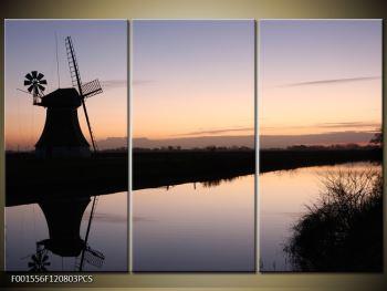 Obraz rybníku u mlýna (F001556F120803PCS)