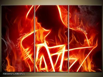 Obraz ohnivé postavy (F001691F120803PCS)