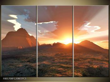 Obraz západu slunce nad horama (F001700F120803PCS)