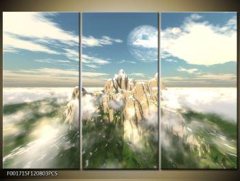 Obraz zasněžených vrcholů skal (F001715F120803PCS)