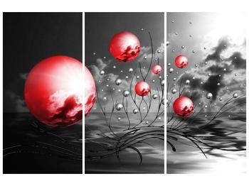 Moderní obraz - červené koule (F002086F120803PCS)