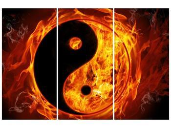 Obraz hořícího jin jang (F002309F120803PCS)
