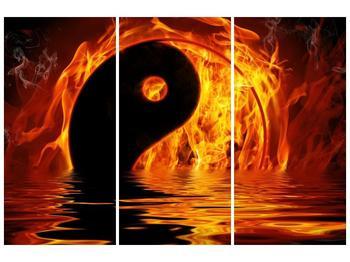 Obraz hořícího Jin Jangu  (F002885F120803PCS)