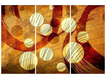 Abstraktní obraz - zlatých puntíků (F005512F120803PCS)