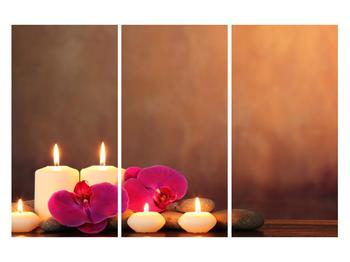 Tablou relaxant cu lumănâri și orhidee (K011120K120803PCS)