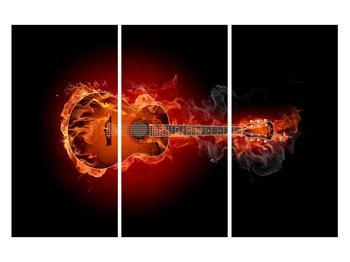 Lángoló gitár képe (K011168K120803PCS)