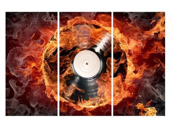 Tablou cu placă de gramofon în foc (K011171K120803PCS)