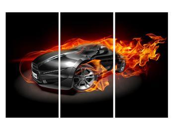 Tablou cu mașina arzând (K011174K120803PCS)