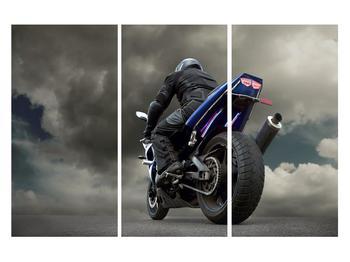Tablou cu motociclist cu motocicletă (K011302K120803PCS)