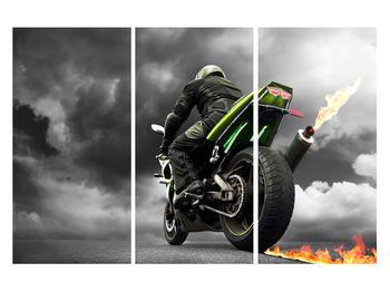Tablou cu motociclist pe motocicletă (K011383K120803PCS)