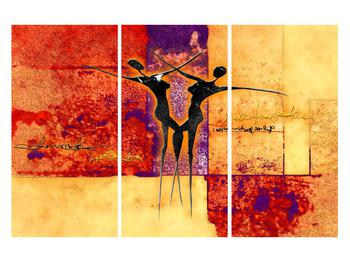 Tablou abstract cu doi dansatori (K011975K120803PCS)