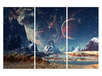 Tablou cu peisaj montan cu planete (K012168K120803PCS)