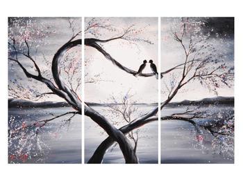 Tablou cu păsări îndrăgostite (K012516K120803PCS)