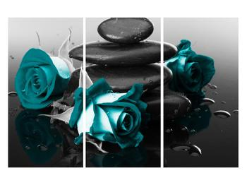 Tablou cu trandafiri albastre (K012553K120803PCS)