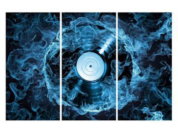Tablou cu placă de gramofon în foc albastru (K014442K120803PCS)