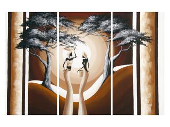 Tablou oriental cu două femei și copac (K014682K120803PCS)