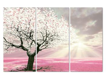 Růžový obraz stromu (V020058V120803PCS)