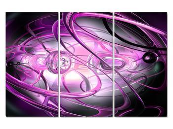Obraz krásné fialové abstrakce (V020060V120803PCS)