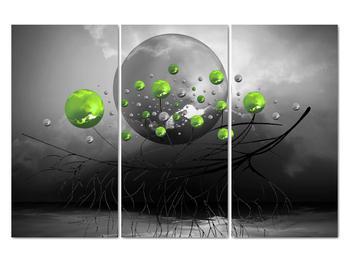 Obraz zelených abstraktných gulí (V020103V120803PCS)