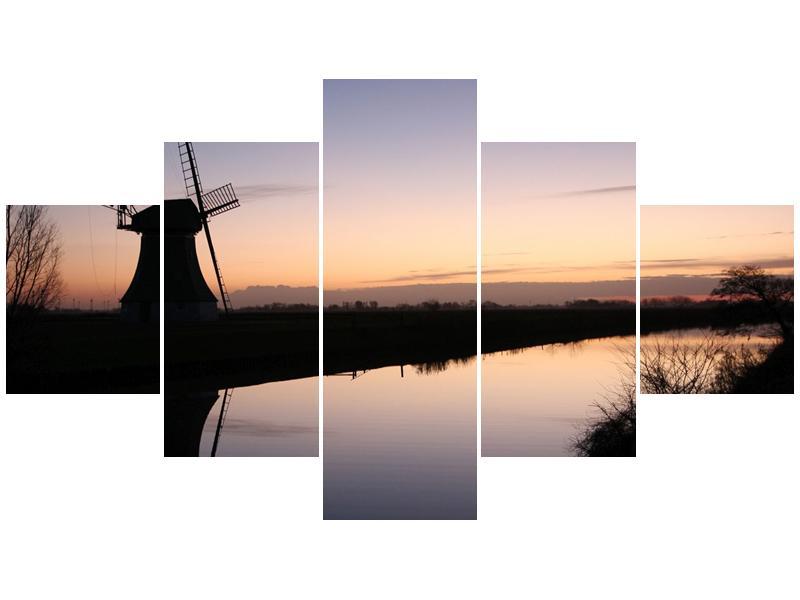 Obraz rybníku u mlýna (F001556F12570)