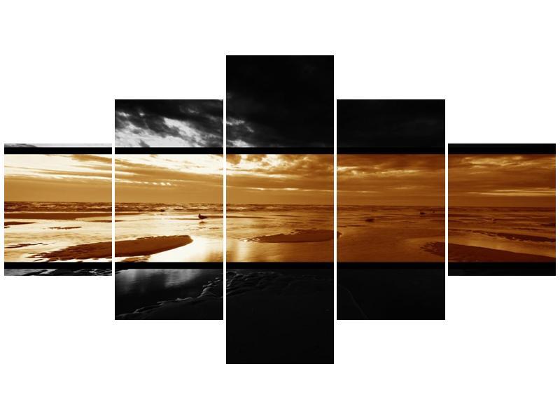 Dvroubarevný obraz moře (F001957F12570)