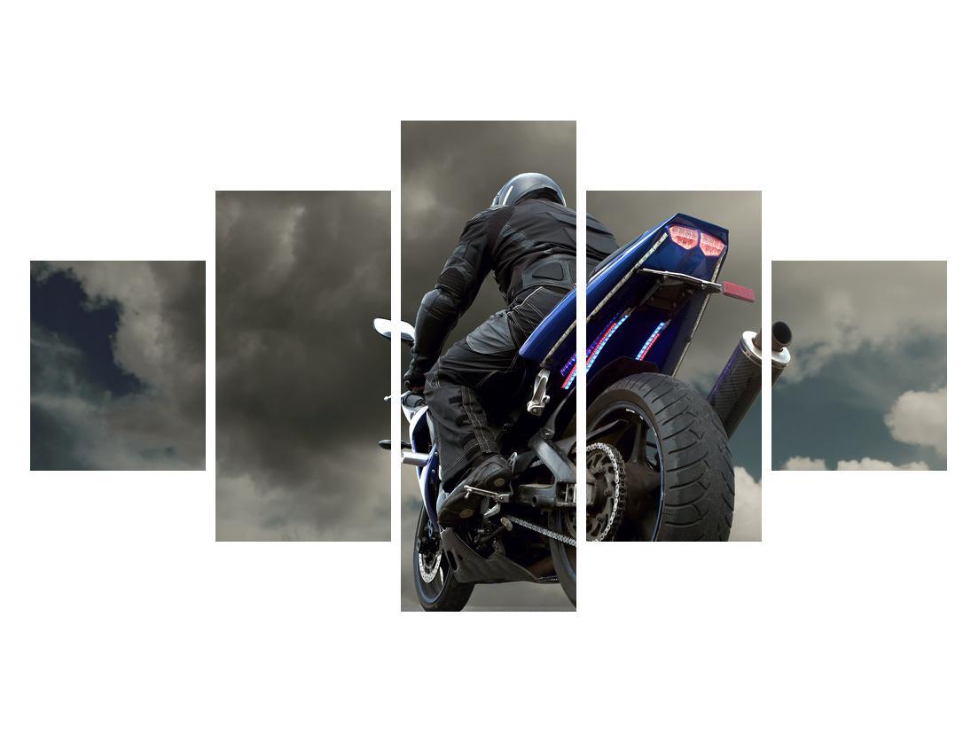Tablou cu motociclist cu motocicletă (K011302K12570)