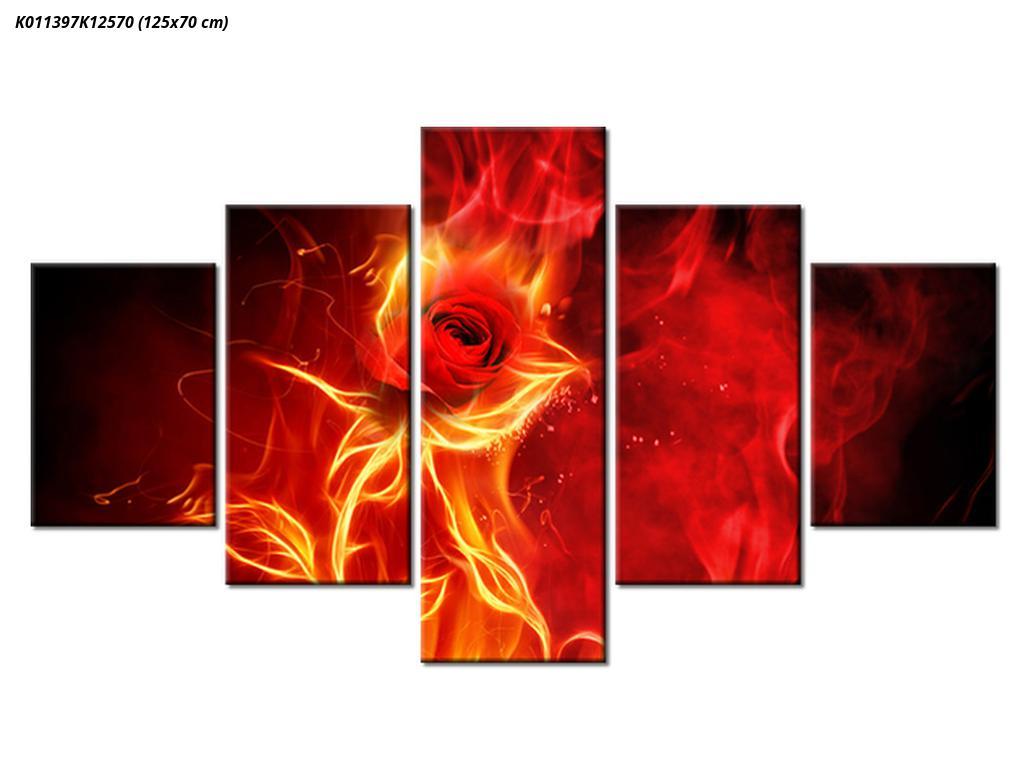 Obraz růže v ohni (K011397K12570)