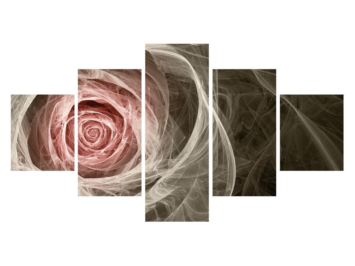 Abstraktní obraz růže (K014988K12570)