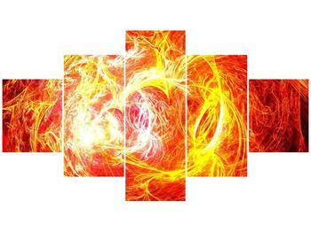 Abstraktní oranžový obraz (F000152F12570)
