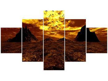 Obraz vyprahlého údolí (F000287F12570)