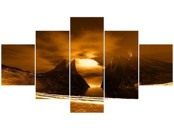 Obraz skály a pláže (F000300F12570)