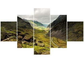 Obraz cesty uprostřed hor (F000621F12570)