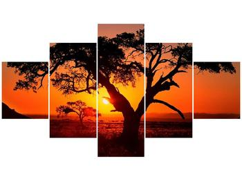 Obraz ohnivého západu slunce (F001288F12570)