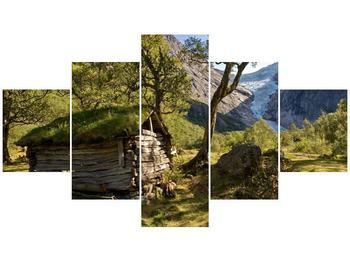 Obraz horské chatrče (F001636F12570)