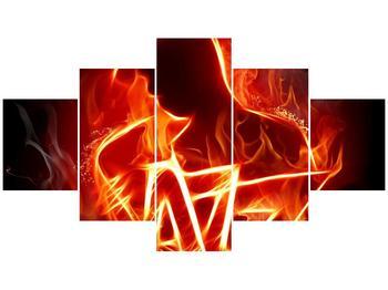 Obraz ohnivé postavy (F001691F12570)