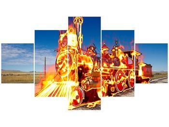 Obraz ohnivé lokomotivy (F001696F12570)