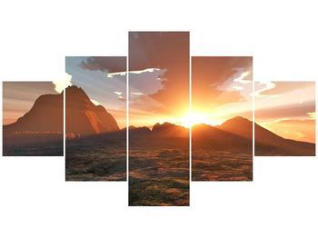 Obraz západu slunce nad horama (F001700F12570)